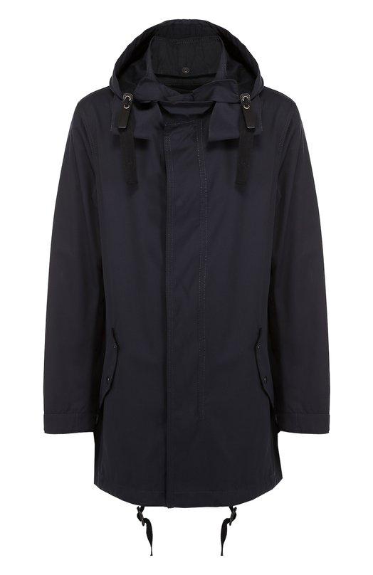 Хлопковая куртка на молнии с капюшоном Lanvin. Цвет: темно-синий