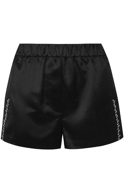 Хлопковые мини-шорты с эластичным поясом и декоративной отделкой 3.1 Phillip Lim S171-5080CVS