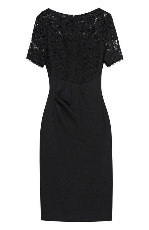 Приталенное платье с кружевным лифом и драпировкой Escada 5023125