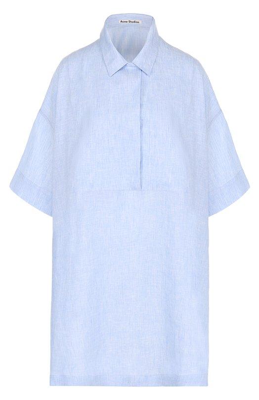 Льняное платье-рубашка свободного кроя Acne Studios 14N166