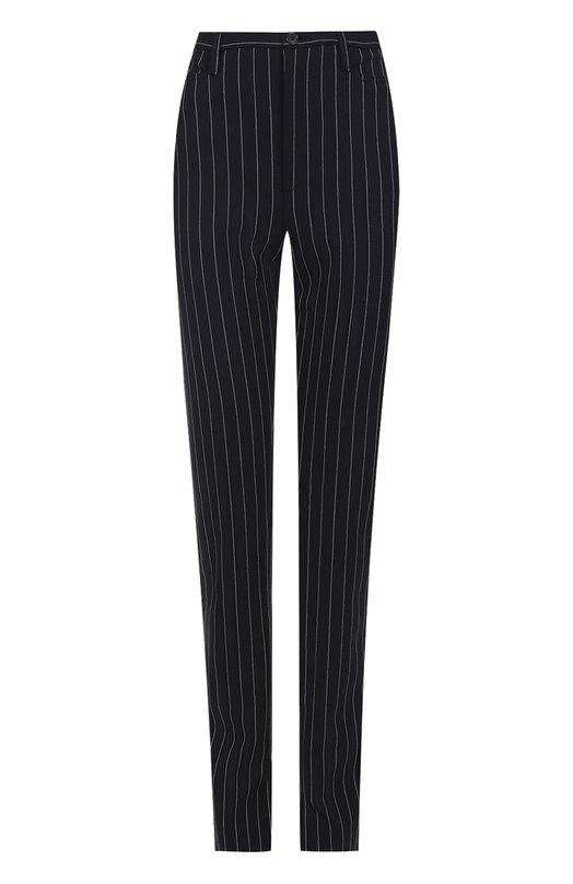 Шерстяные брюки в полоску с разрезами Balenciaga 470740/TVI10