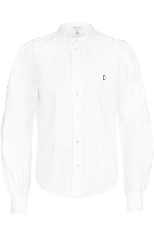 Приталенная хлопковая блуза с широкими рукавами Marc Jacobs M4006665
