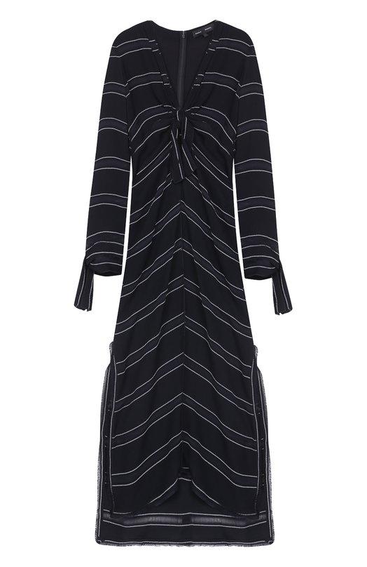 Платье-миди с высокими разрезами и бантом Proenza Schouler R171326-BY074