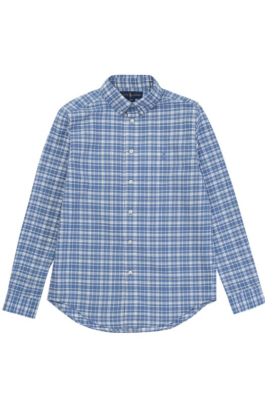 Рубашка из смеси хлопка и льна Polo Ralph Lauren B04/XZ76F/XY76F