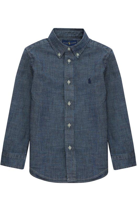 Рубашка из денима с воротником button down Polo Ralph Lauren K04/XZ764/XY764