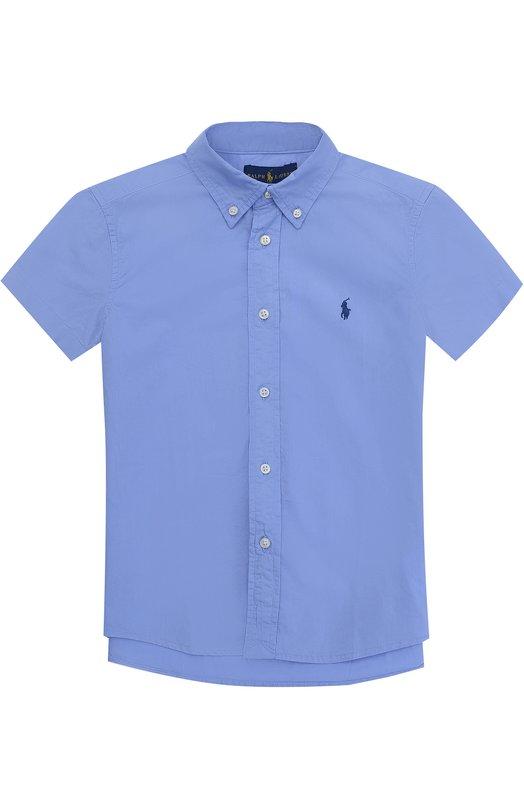 Рубашка из хлопка с короткими рукавами и воротником button down Polo Ralph Lauren K04/XZ73I/XY73I