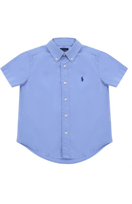Рубашка из хлопка с короткими рукавами и воротником button down Polo Ralph Lauren T04/XZ73I/XY73I