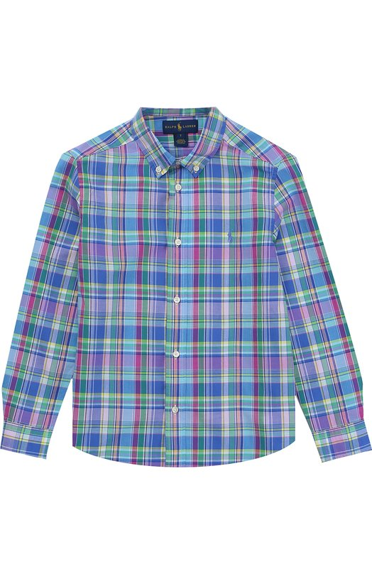 Рубашка из хлопка с воротником button down Polo Ralph Lauren K04/XZ70W/XY70W