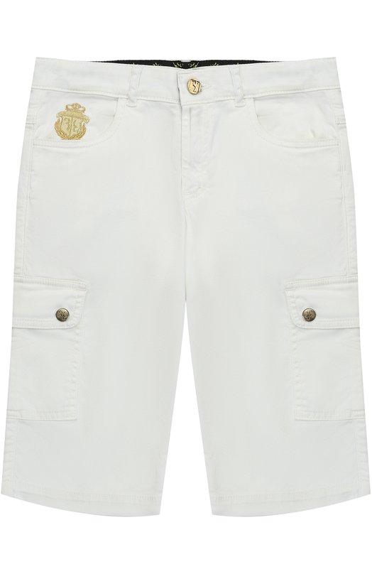Шорты из хлопка с накладными карманами и вышивкой Billionaire BI1476/2-6