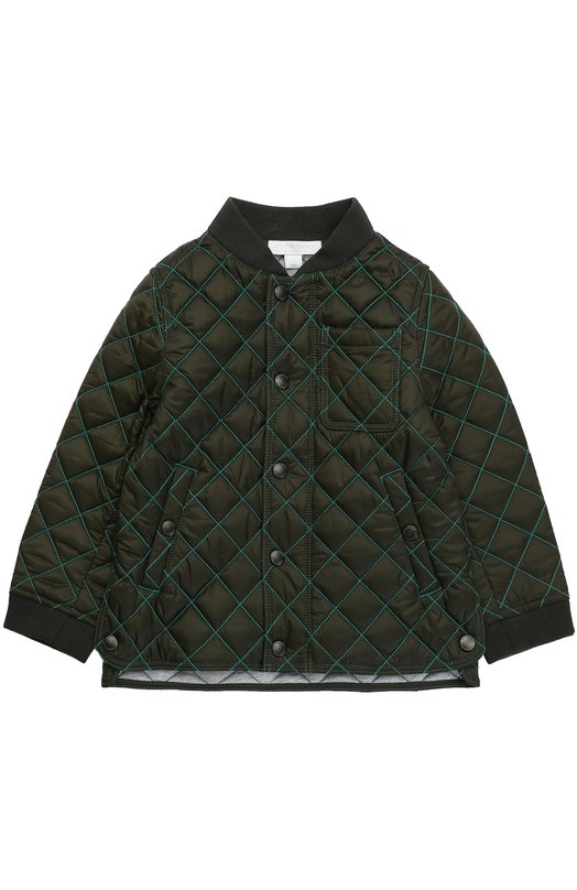 Куртка с контрастной прострочкой Burberry 4034596