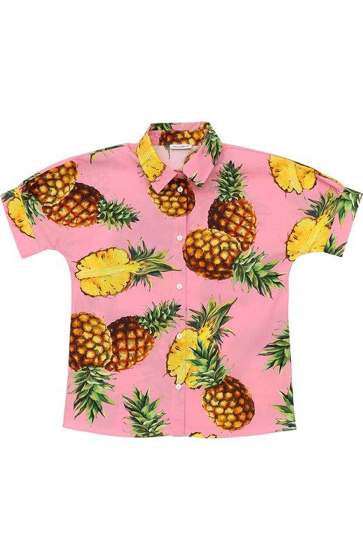 Блуза прямого кроя с принтом Dolce & Gabbana 0131/L52S91/FS53V/8-12