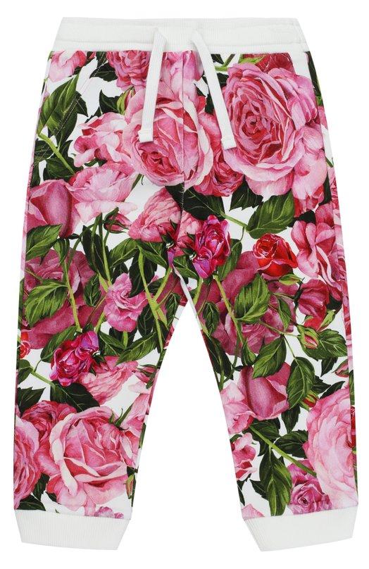 Спортивные брюки с манжетами и принтом Dolce & Gabbana 0131/L2JP1V/G7J0J