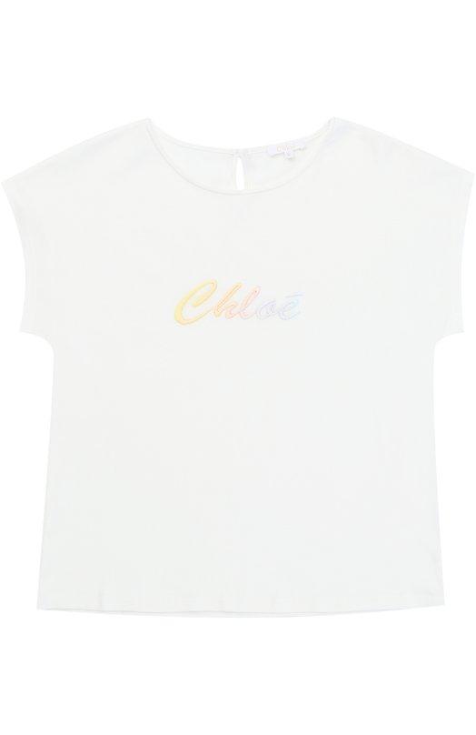 Топ джерси с вышивкой Chlo C15187/6A-12A