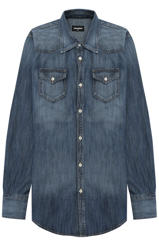 Рубашка из денима с накладными карманами Dsquared2 DQ02DG/D00KM