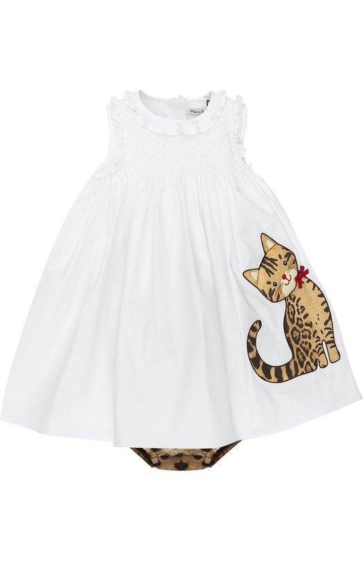Комплект из платья с аппликацией и трусов Dolce & Gabbana 0131/L25D44/FU5MQ