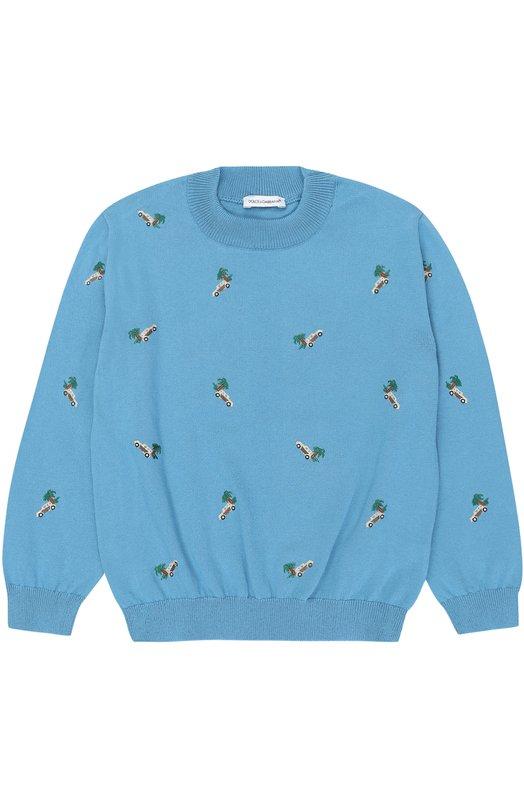 Пуловер из хлопка с вышивками Dolce & Gabbana 0131/L43K61/LK0R1/2-6