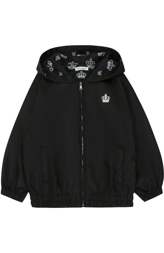 Купить Куртка на молнии с капюшоном Dolce & Gabbana, 0131/L4JBN2/G7JLJ/2-6, Италия, Черный, Полиэстер: 100%;