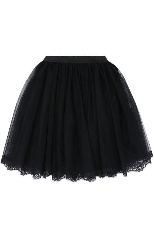 Многоярусная пышная юбка с кружевной отделкой Dolce & Gabbana 0131/L52I43/FLSAB/2-6