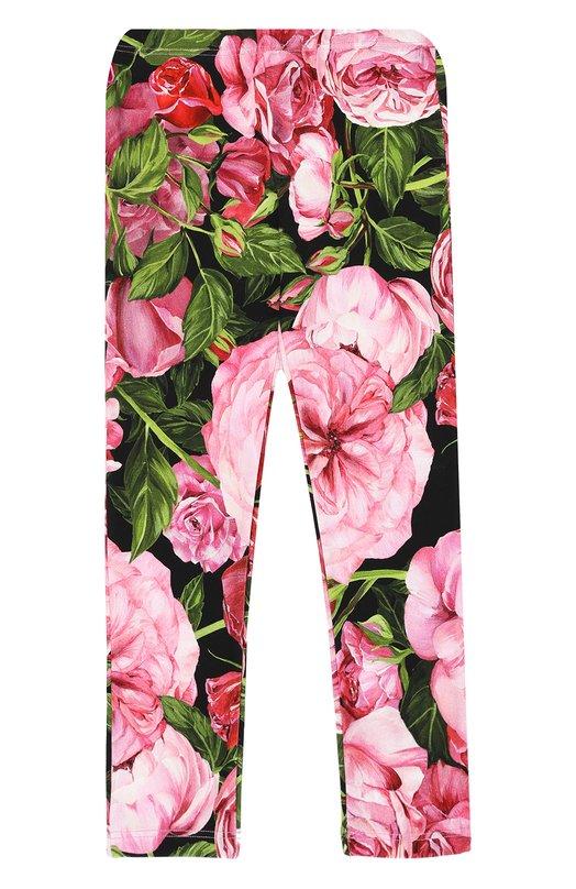 Брюки из хлопка с принтом Dolce & Gabbana 0131/L5JP1U/G7J0J/2-6