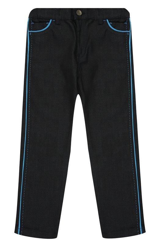 Джинсы прямого кроя с контрастной отделкой Dolce & Gabbana 0131/L41F74/LD629/2-6