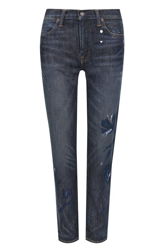 Купить Укороченные джинсы прямого кроя с потертостями Polo Ralph Lauren Мексика 5150404 V60/XZA16/XY827