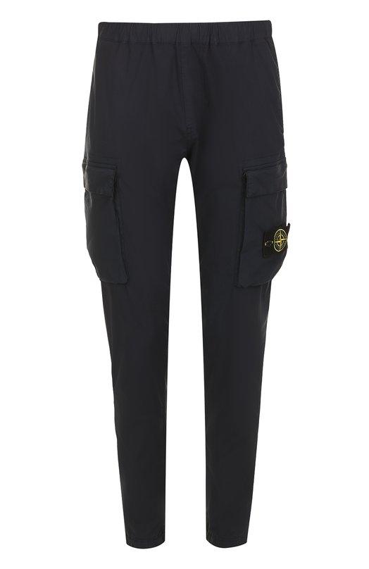 Хлопковые брюки карго с поясом на резинке Stone Island 661530703
