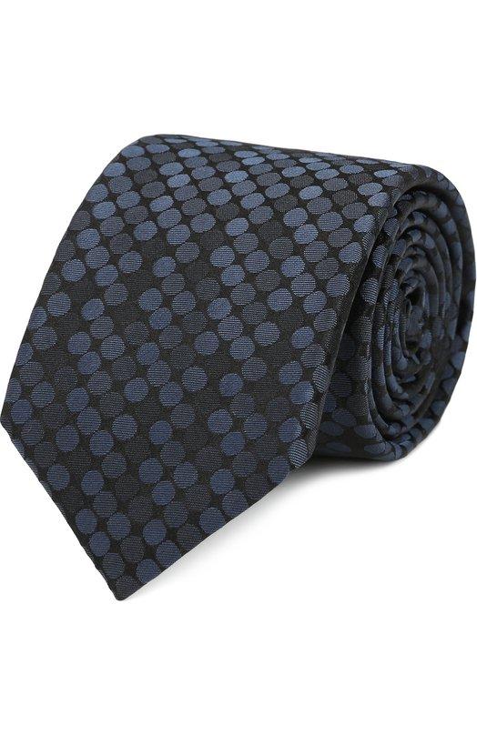 Купить Шелковый галстук с узором Pal Zileri, 93388/800/V1S, Италия, Синий, Шелк: 100%;