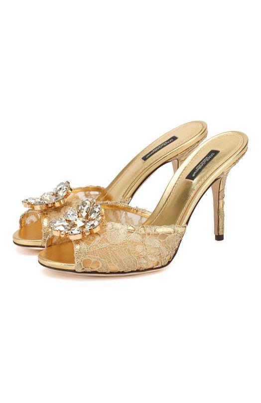 Кружевные мюли Keira на шпильке Dolce & Gabbana 0112/CR0388/AE637
