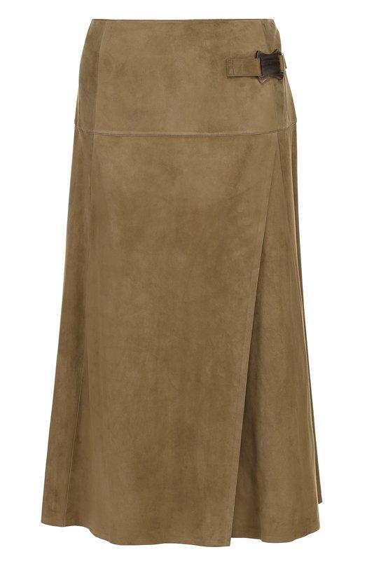 Замшевая юбка-миди с запахом Ralph Lauren 915/XZD64/XYD64