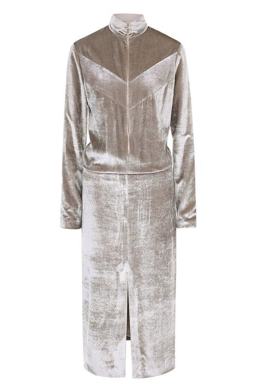Приталенное бархатное платье на молнии Nina Ricci 17PCR0002VI0211