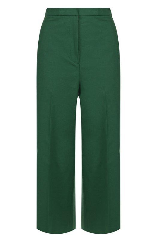 Укороченные расклешенные брюки со стрелками Rochas. Цвет: зеленый