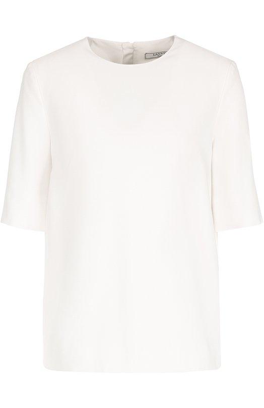 Блуза прямого кроя с круглым вырезом Lanvin RW-T06014-3413-P17