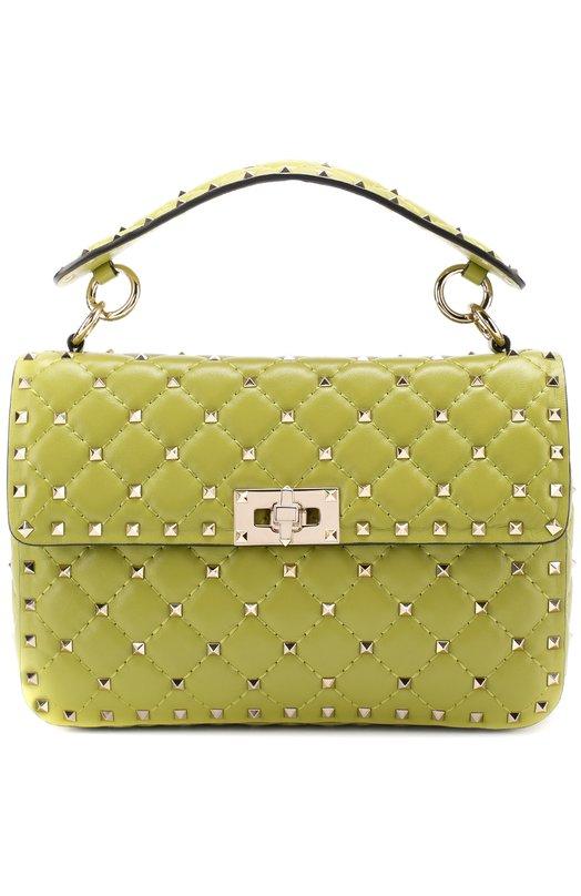 Купить Сумка Rockstud Spike medium Valentino, MW0B0122/NAP, Италия, Зеленый, Кожа натуральная: 100%;
