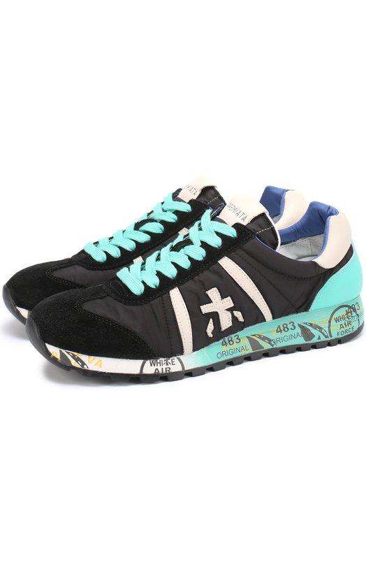 Комбинированные кроссовки Lucy на шнуровке Premiata LUCY/VAR2193