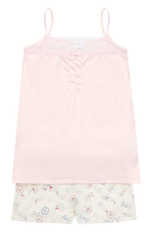Пижама с принтом и кружевной отделкой La Perla 51811/2A-6A