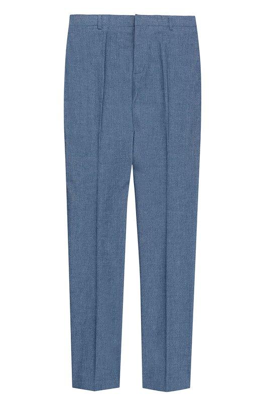 Хлопковые брюки прямого кроя Burberry 4034430