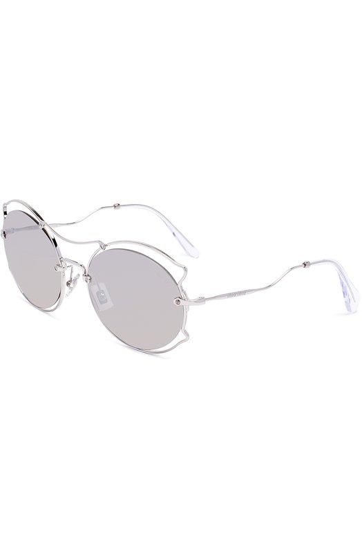 Купить Солнцезащитные очки Miu Miu, 50SS-1BC2B0, Италия, Серебряный