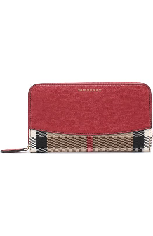 Портмоне из кожи и текстиля в клетку House Check Burberry 3975333