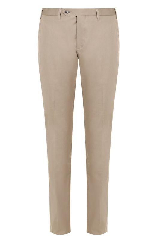 Хлопковые брюки прямого кроя Germano. Цвет: темно-бежевый