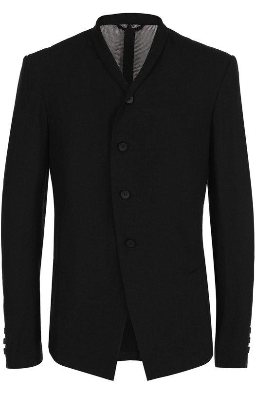 Льняной однобортный пиджак с шалевыми лацканами Masnada