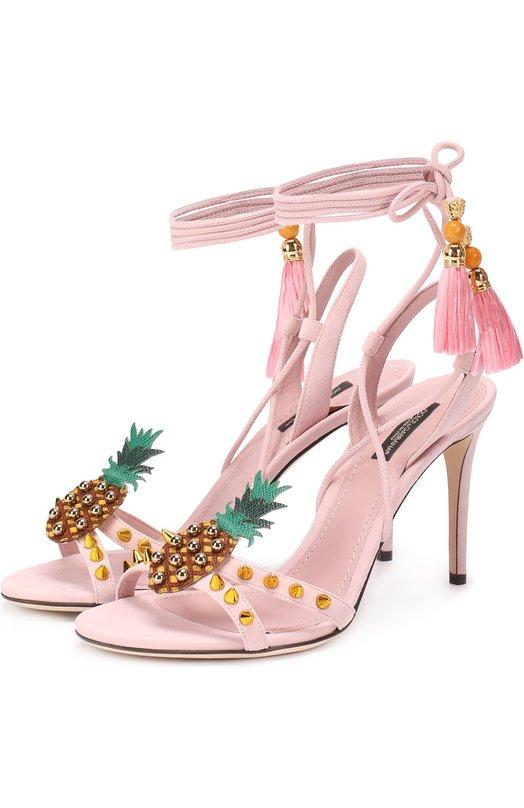 Босоножки Keira с подвесками и заклепками Dolce & Gabbana 0112/CR0311/AE727