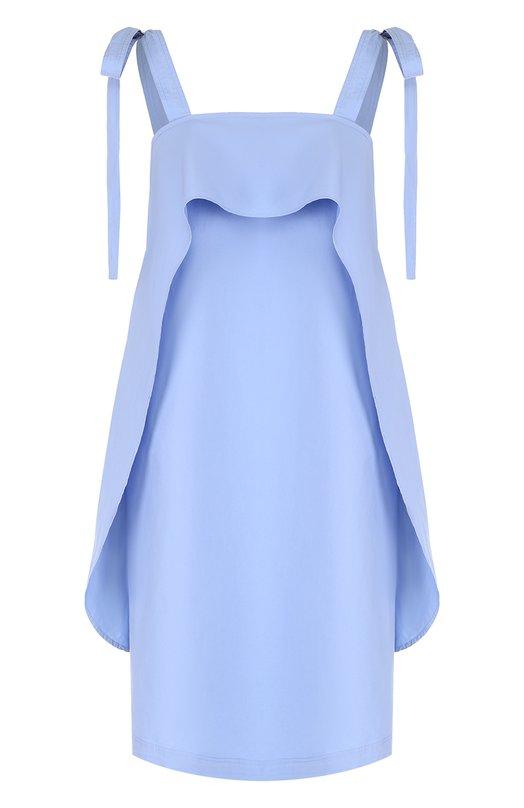 Хлопковое платье с оборками и декоративными бантами Paul&Joe FLEBELIER
