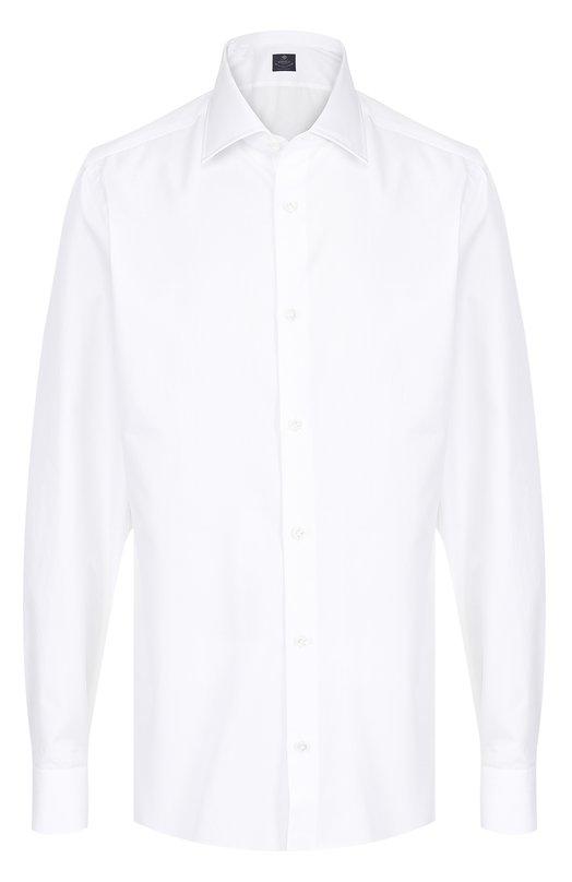 Купить Хлопковая сорочка с воротником акула Luigi Borrelli, EV08/TS5022, Италия, Белый, Хлопок: 100%;