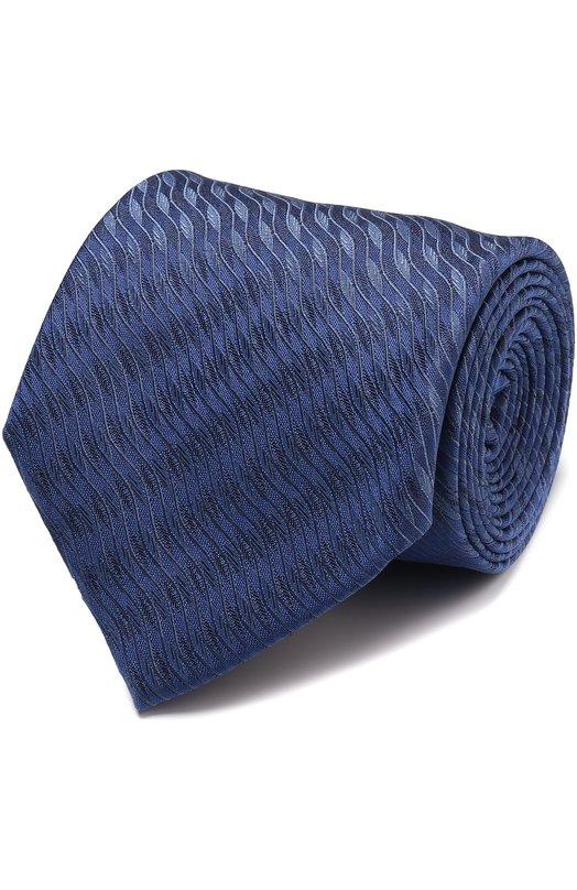 Купить Шелковый галстук с узором Pal Zileri, 94906/300/C11, Италия, Синий, Шелк: 100%;