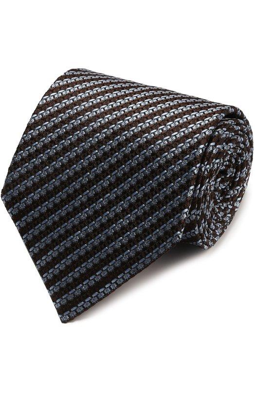 Шелковый галстук с узором Ermenegildo Zegna Z9E581XW