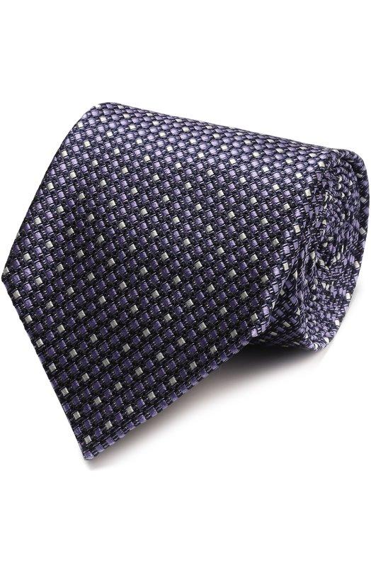 Шелковый галстук с узором Ermenegildo Zegna Z9D821XW