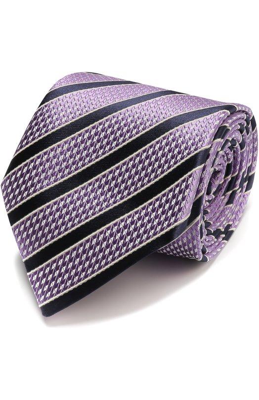 Шелковый галстук с узором Ermenegildo Zegna Z9D671L8