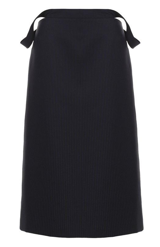 Юбка-миди в тонкую полоску с декоративной отделкой Balenciaga 470753/TVI06