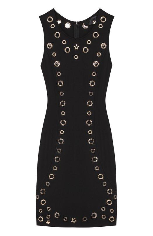 Приталенное платье с металлизированной отделкой Philipp Plein P17C WRH0008 PJY002N