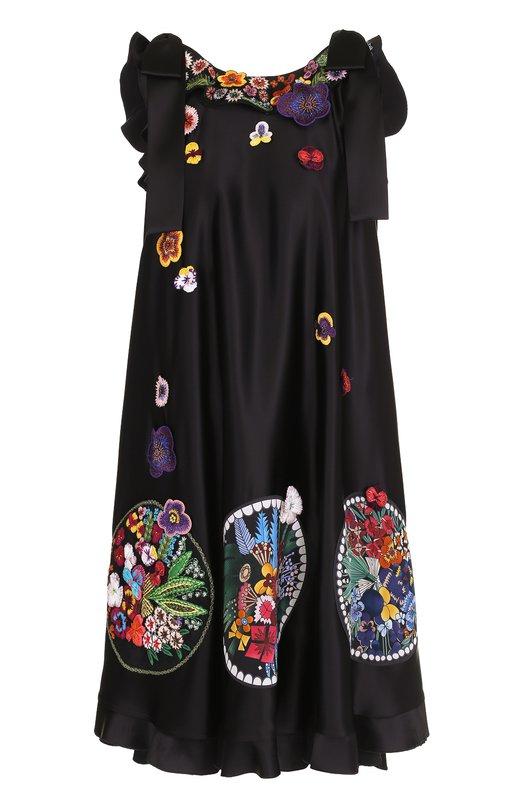 Платье-миди прямого кроя с декоративной отделкой Fendi FD9194/9BB
